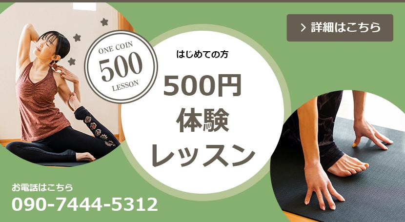 初めての方、500円体験レッスン開催中。詳細はこちら。